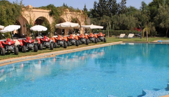 pool day and quad ride Marrakech